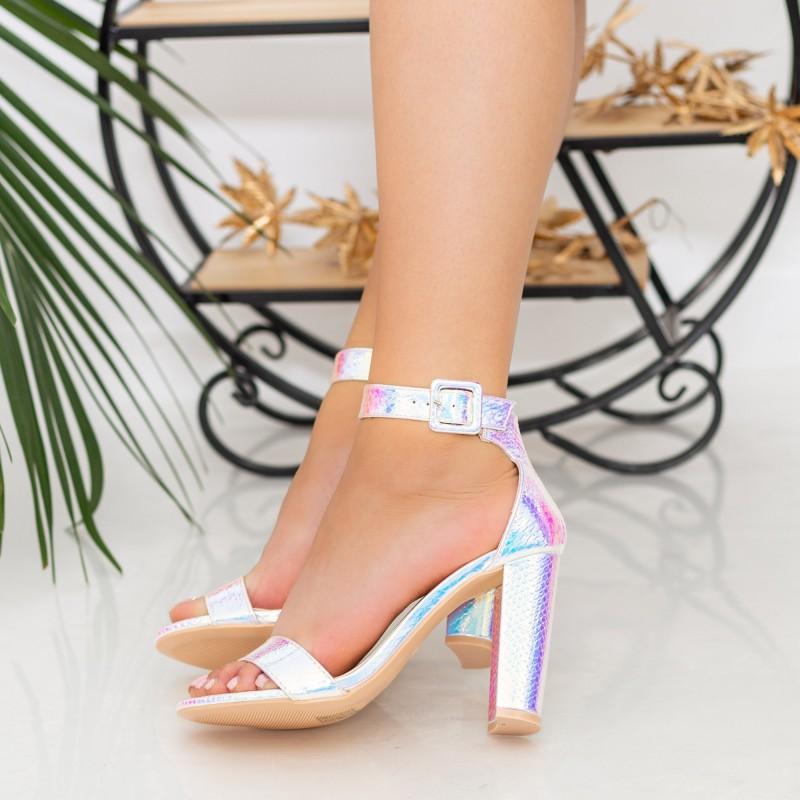 Sandale Dama cu Toc gros XKK236 Pink Mei