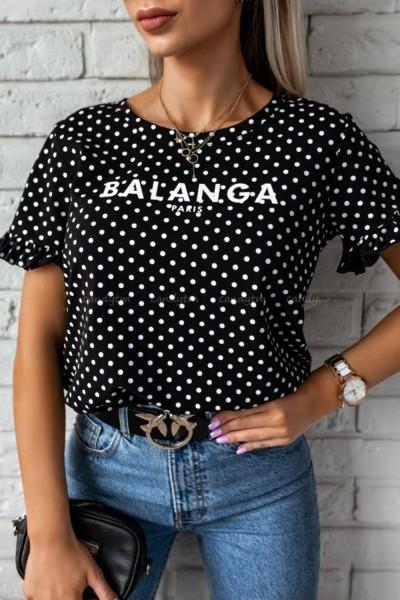 "Tricou Dama ""BALANGA"" 8883-2 Negru Adrom"