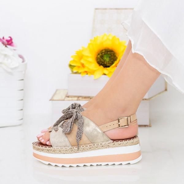 Sandale Dama cu Platforma GZXY3 Gold Mei