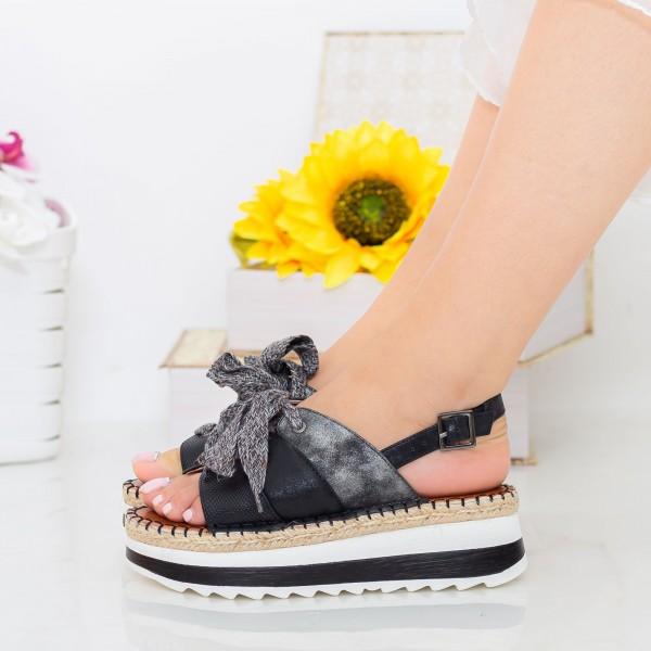 Sandale Dama cu Platforma GZXY3 Black Mei
