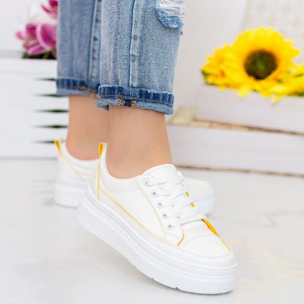 Tenisi Dama YKQ215 White-Yellow Mei