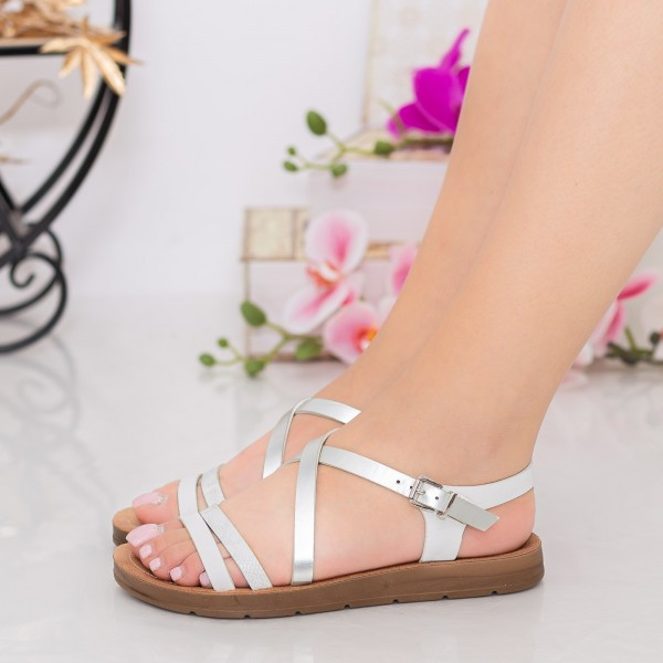 Sandale Dama WS101 White Mei