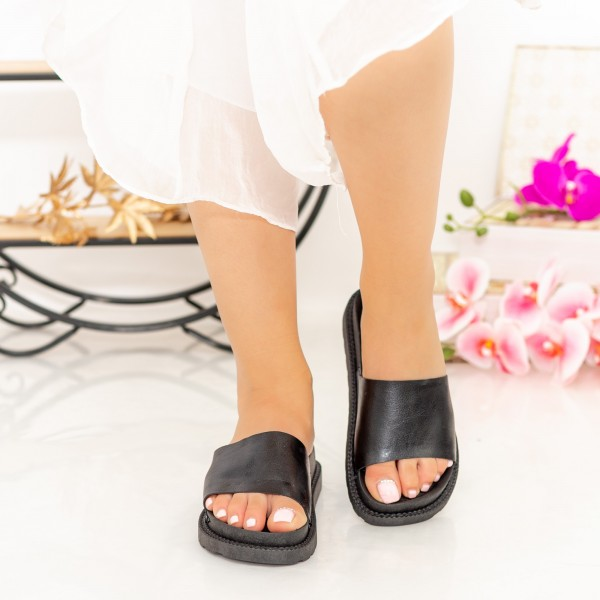 Papuci Dama TJ1 Black Mei