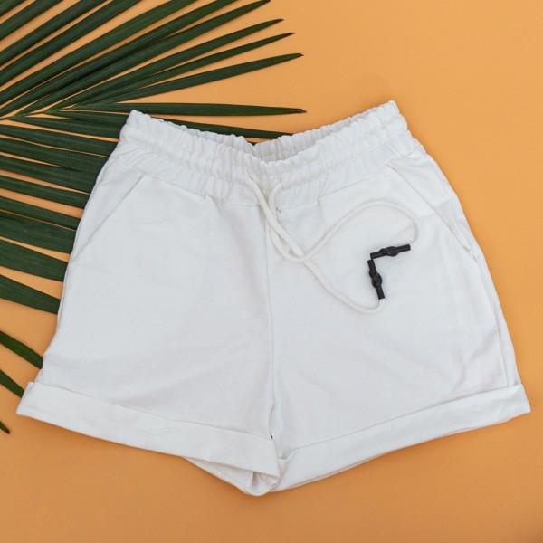 Pantaloni Scurti Dama 4043 Alb KTN