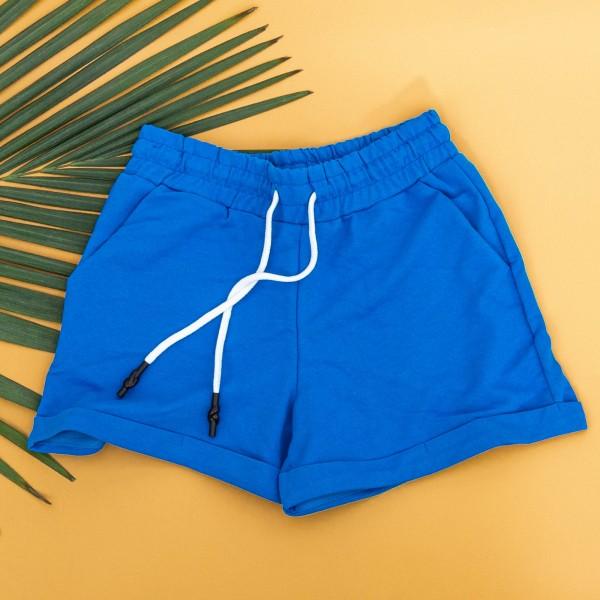 Pantaloni Scurti Dama 4043 Albastru KTN