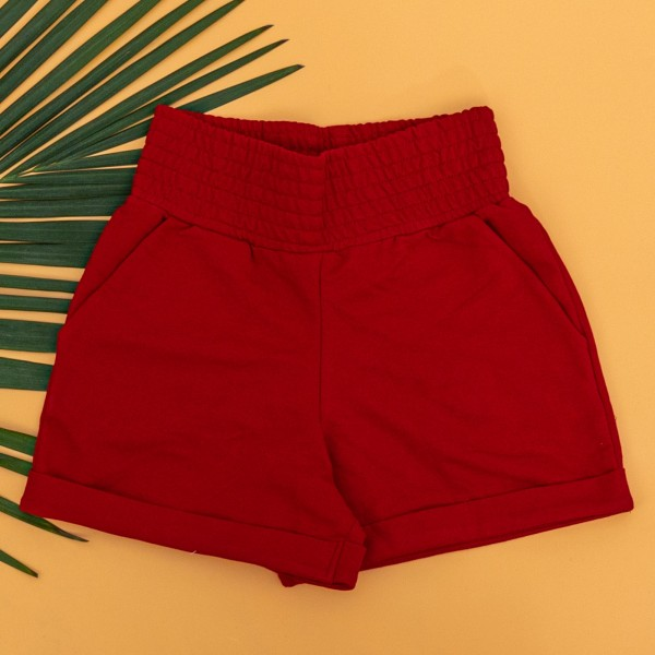 Pantaloni Scurti Dama 4044 Rosu KTN
