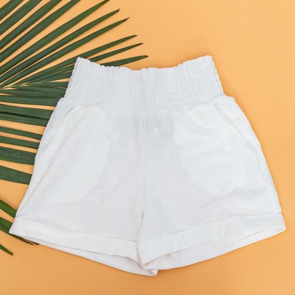 Pantaloni Scurti Dama 4044 Alb KTN