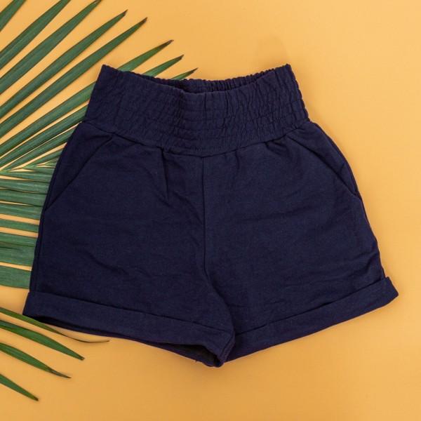 Pantaloni Scurti Dama 4044 Albastru Inchis KTN