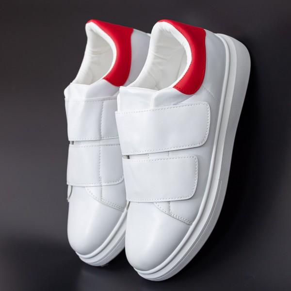 Pantofi Sport Barbati B83 White-Red Mei