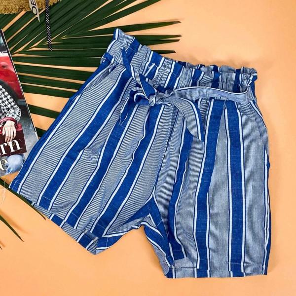 Pantaloni Scurti Dama 500385 Albastru Mei