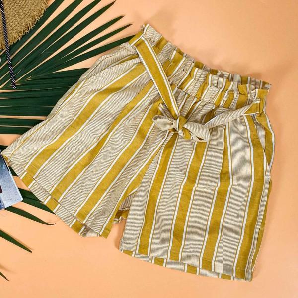 Pantaloni Scurti Dama 500385 Galben Mei