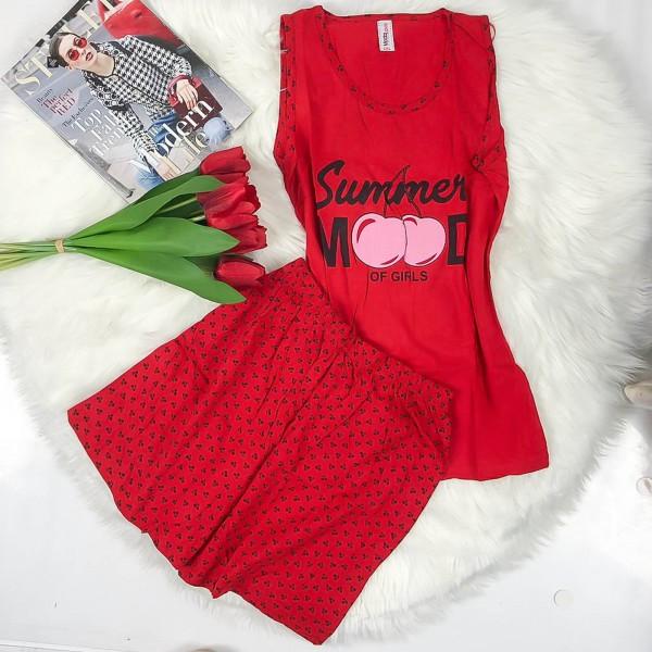 Pijama Dama Batal 4445 Rosu Mei