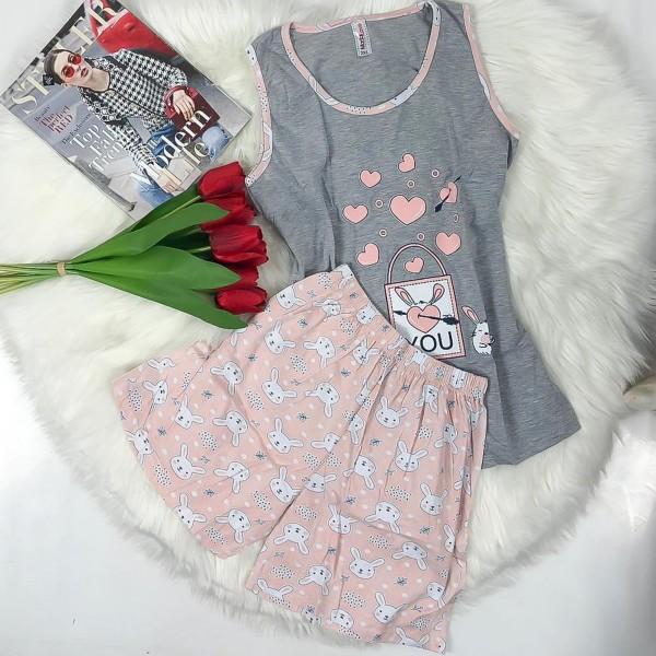 Pijama Dama Batal 4478 Gri Mei