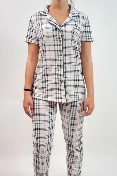 Pijama Dama 4816 Alb Mei
