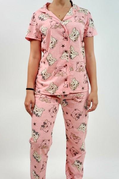 Pijama Dama 667 Roz Mei