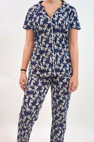 Pijama Dama 551 Albastru Inchis Mei