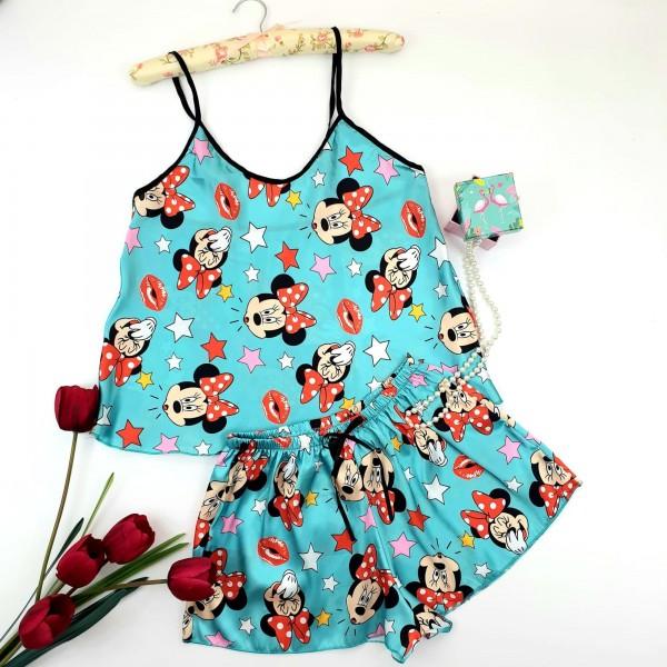 Pijama Dama HP02 Albastru deschis Fashion