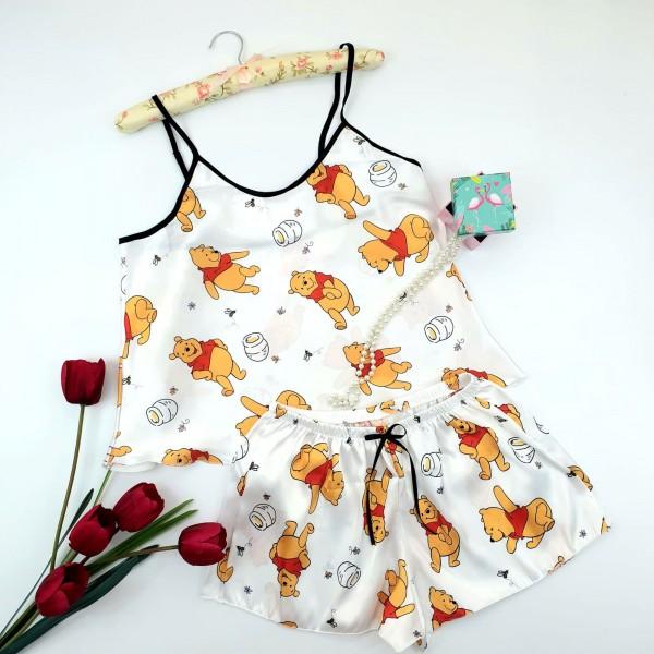 Pijama Dama HP05 Alb Fashion