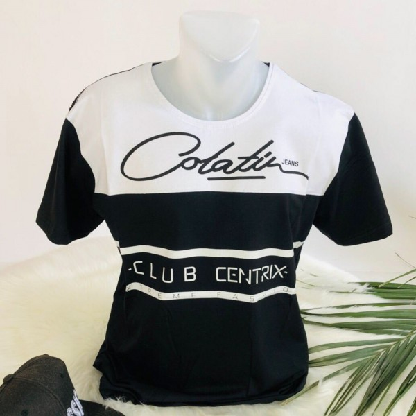 Tricou Barbati 3012 Negru-Alb Fashion