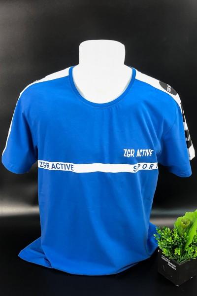Tricou Barbati 3009 Albastru Fashion
