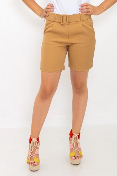 Pantaloni Scurti dama P093 Bej Adrom