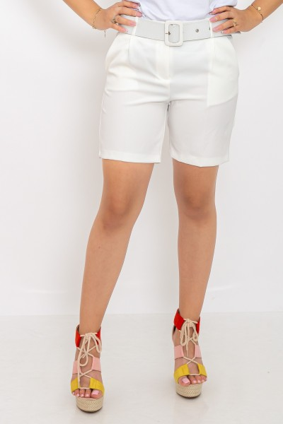 Pantaloni Scurti dama P093 Alb Adrom