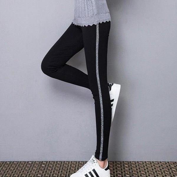 Colanti Dama 0041 Negru-Argintiu Fashion
