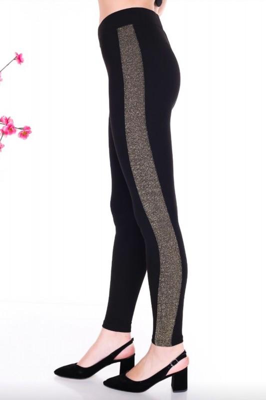 Colanti Dama 0041 Negru-Auriu Fashion