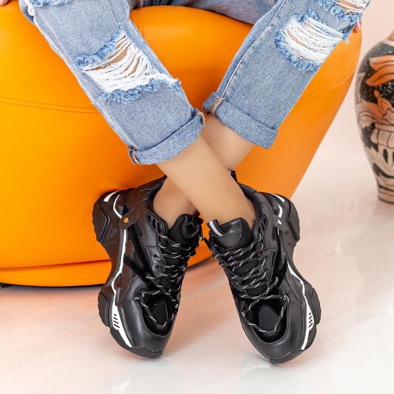 Pantofi Sport Dama L1939 Black Mei