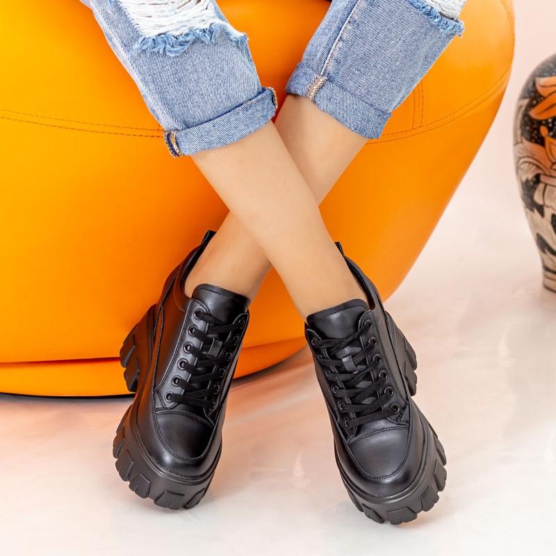 Pantofi Sport Dama cu Platforma SJN333 Black Mei