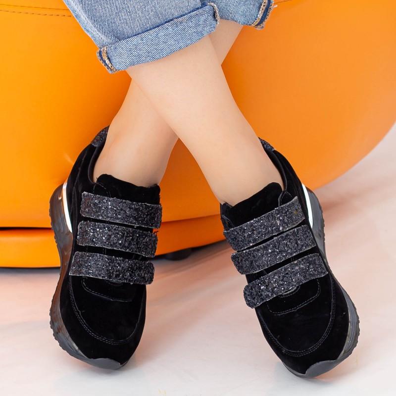 Pantofi Sport Dama cu Platforma SZ211 Black Mei