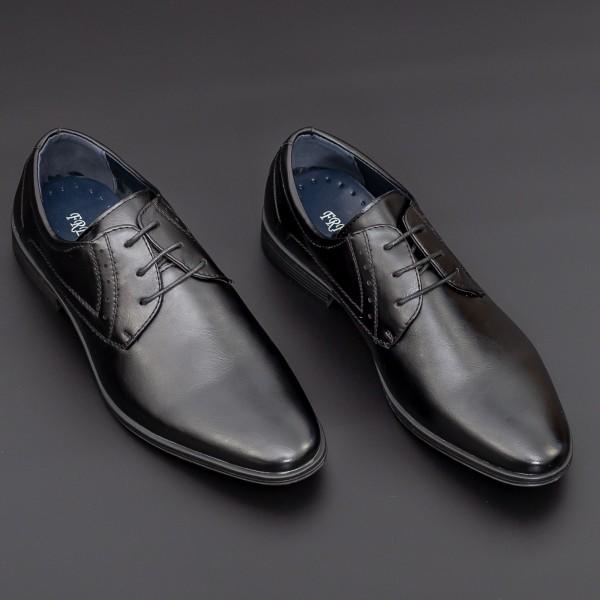 Pantofi Barbati 2202-1 Black Mei