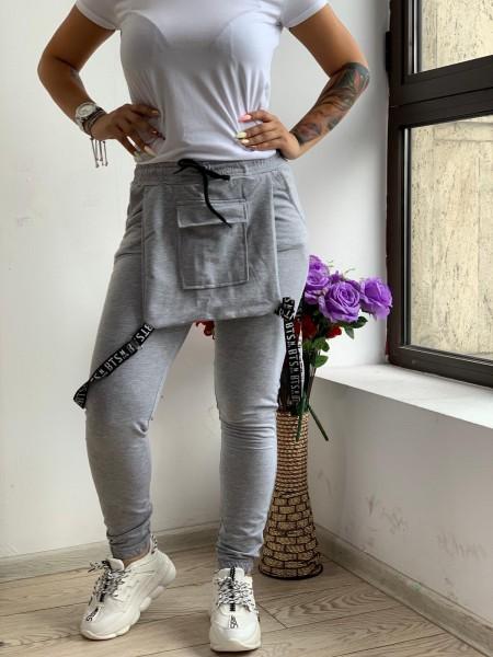 Pantaloni Dama HP1804 Gri Fashion