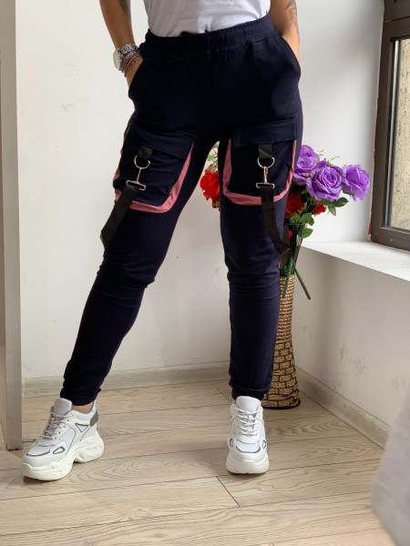 Pantaloni Dama HP1805 Albastru inchis Fashion