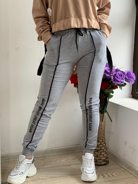 Pantaloni Dama HP1801 Gri Fashion