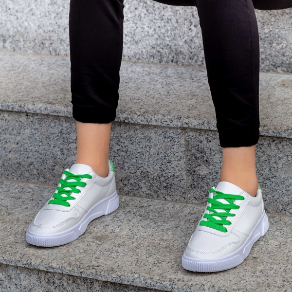 Pantofi Sport Dama X2906 Alb-Verde Mei