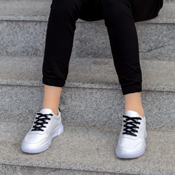 Pantofi Sport Dama X2906 Alb-Negru Mei