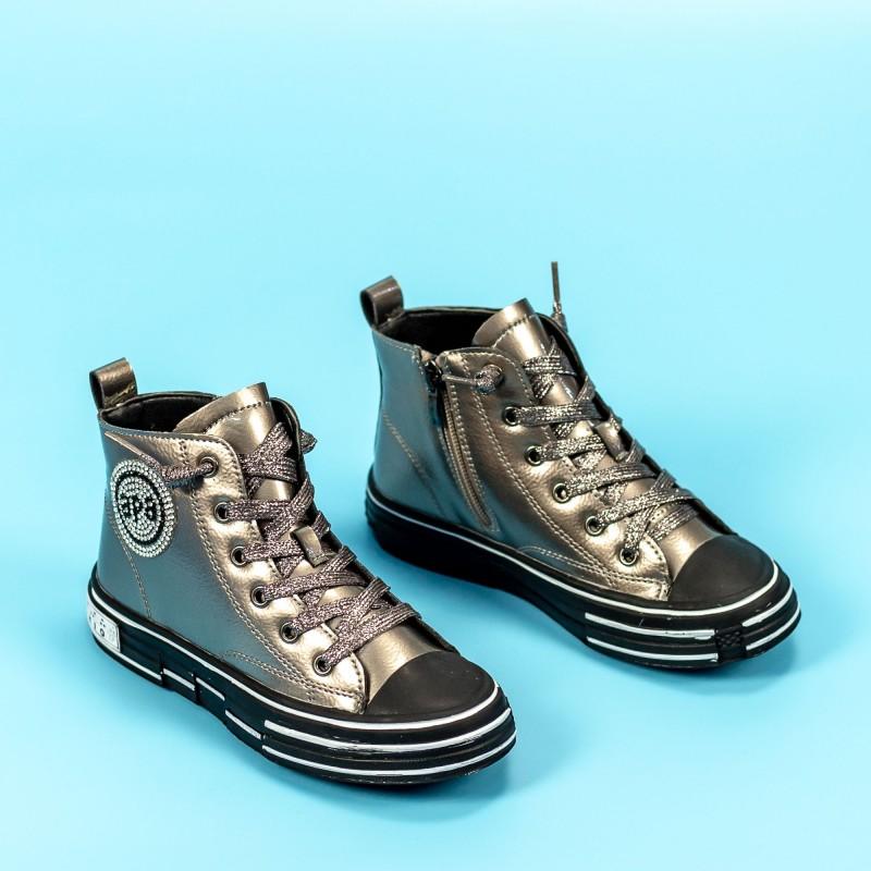 Pantofi Sport Fete GQ191 Auriu Mei