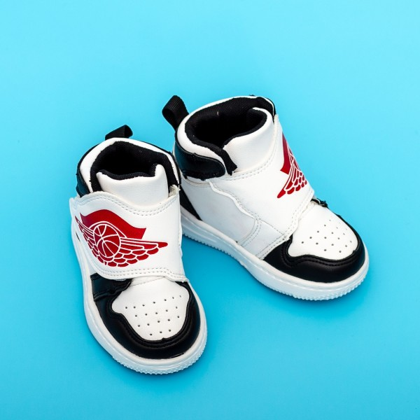 Pantofi Sport Baieti KJ05 Negru-Alb Mei