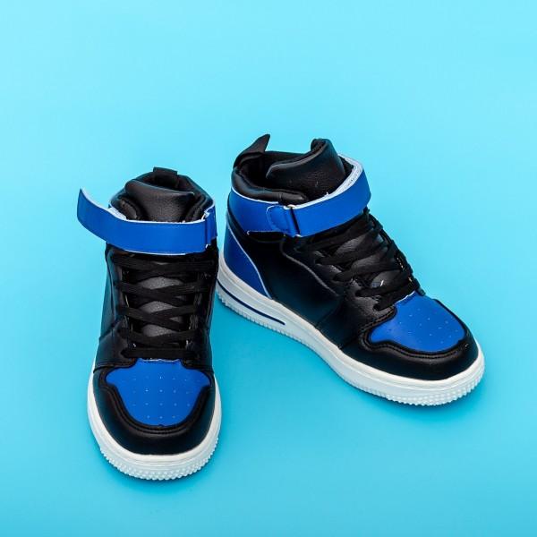 Pantofi Sport Baieti KJ9135 Negru-Albastru Mei