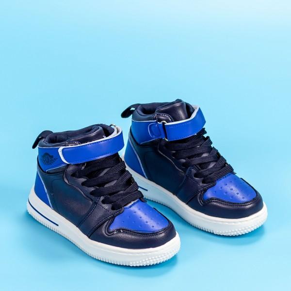 Pantofi Sport Baieti KJ9135 Albastru Inchis-Albastru Mei
