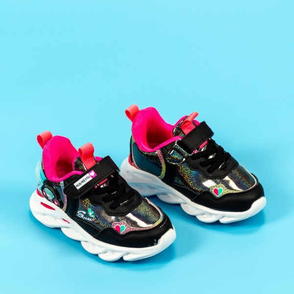 Pantofi Sport Fete LD2026D Negru-Violet Mei