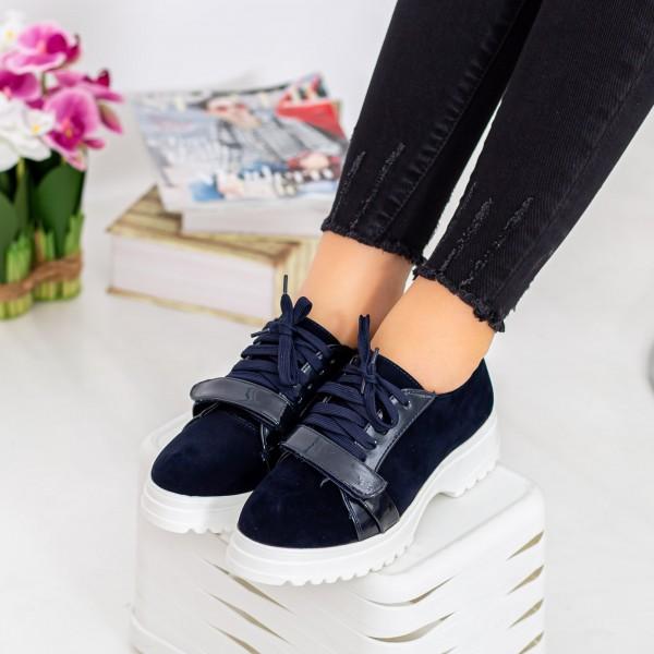 Pantofi Casual Dama 1466-D6 Albastru inchis Hebe