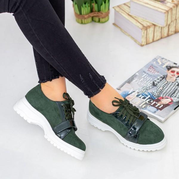 Pantofi Casual Dama 1466-D6 Verde Hebe