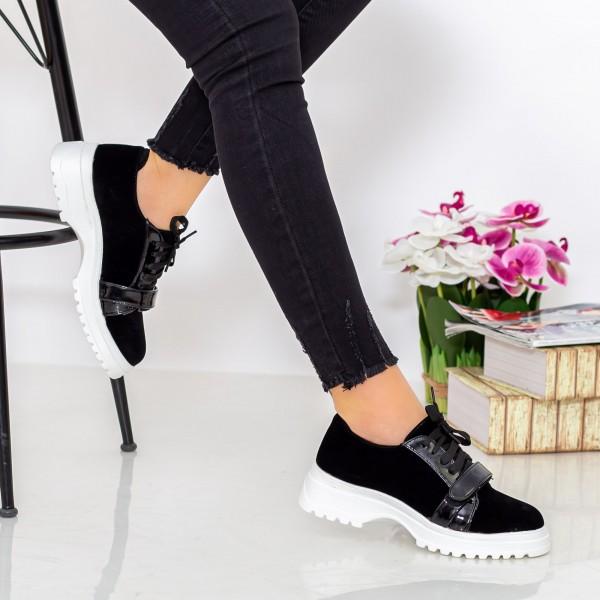 Pantofi Casual Dama 1466-D6 Negru Hebe