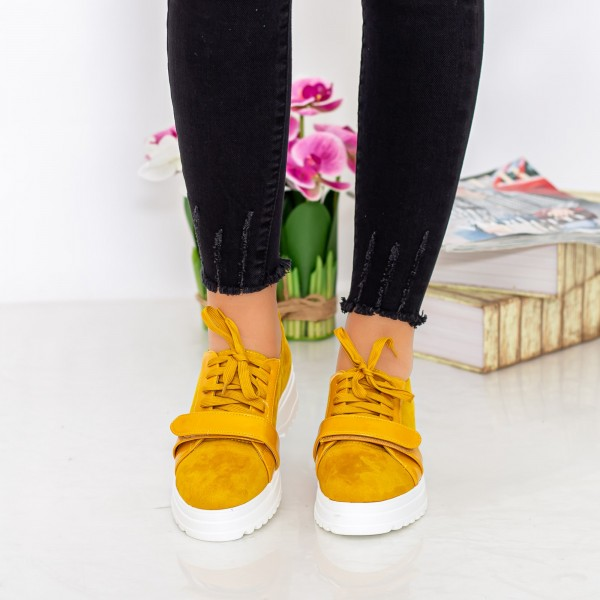 Pantofi Casual Dama 1466-D6 Galben Hebe