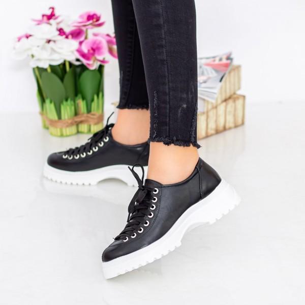 Pantofi Casual Dama 1466-D2A Negru Hebe