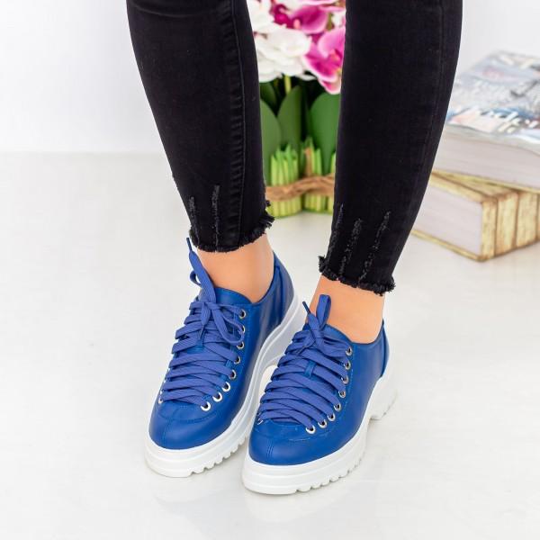 Pantofi Casual Dama 1466-D2A Albastru Hebe