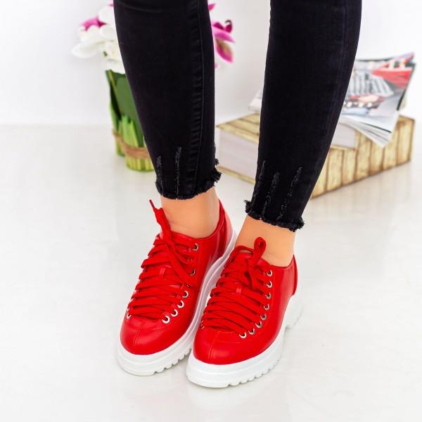 Pantofi Casual Dama 1466-D2A Rosu Hebe