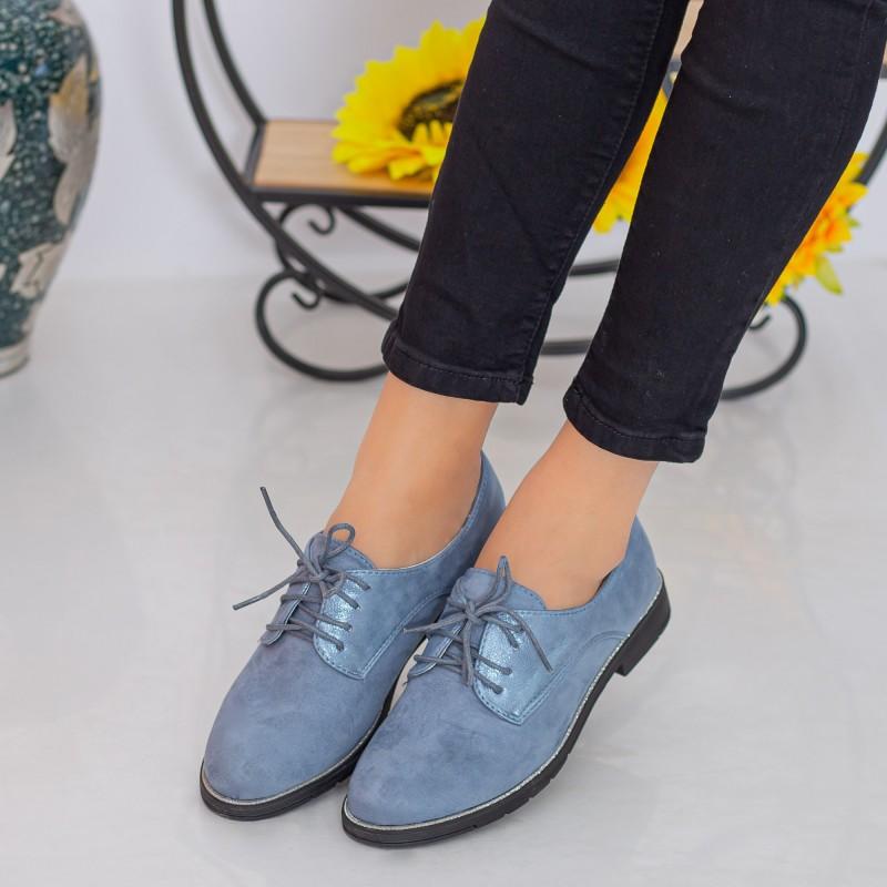 Pantofi Casual Dama YT12 Blue Mei